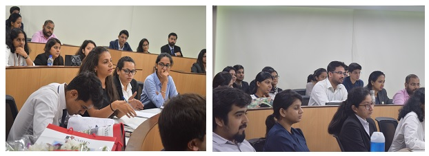 Students interacting with Prof. David Wilkins